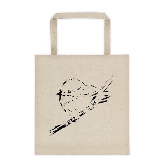 Black and White Chickadee - Tote bag
