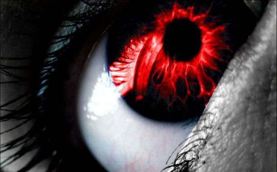 A ravener's most reconziable feature is it's crimson red eyes. No other creature has it. If you see these, run as fast as you possibly can and pray. Pray it does. not. find. you.
