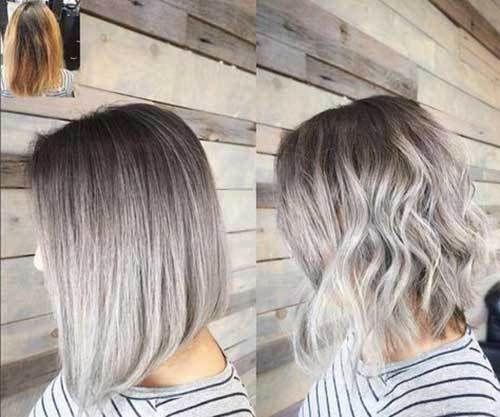 Short Haircut Com Ash Blonde Balayage Short Hair Ash Blonde Short Hair Ash Blonde Hair Colour Short Hair Balayage