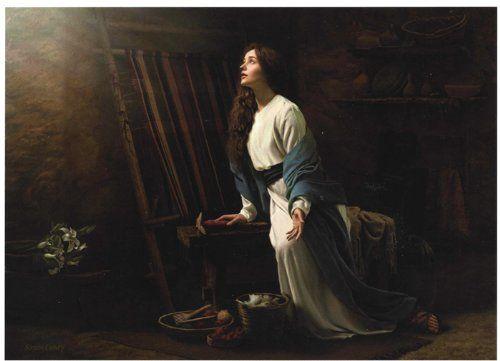 Blessed Amng Women 5x7 Print by Simon Dewey