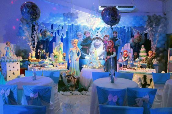 Decoração de festa Frozen - Catarina - 07 anos