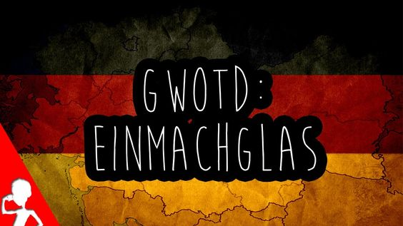Today's ‪#‎German‬ word of the day is: das Einmachglas How many Einmachgläser do you own? (: Wie viele Einmachgläser besitzt ihr? There's also an announcement for tomorrow's live hangout during the ‪#‎Germany‬ vs ‪#‎Brasil‬ match in this video!