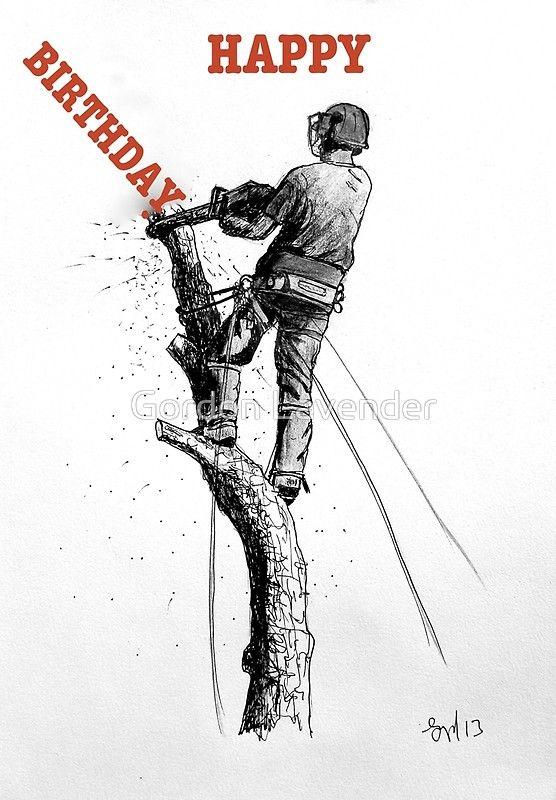 Chain Saw Poster Print Landscaper Gift Arborist Lumberjack Logging Equipment