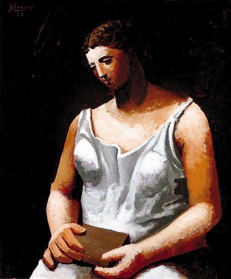 La femme en blanc. Picasso.
