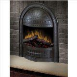 Dimplex ETP-23-CST Electric Fireplace Deluxe 23-Inch Insert with Cast Hooded Trim, Antique Brown