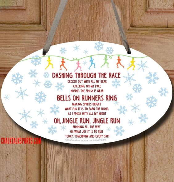 Add some holiday spirit to your run with this Jingle Run room sign!
