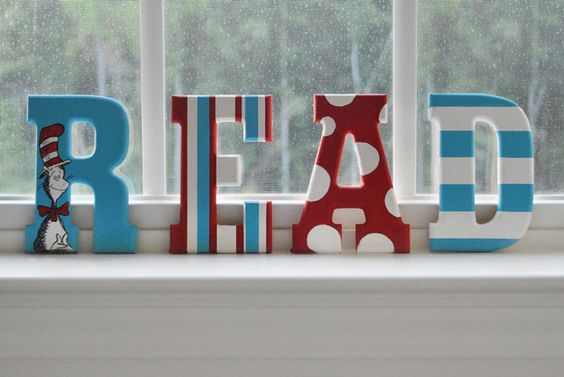 Classroom Ideas: Painted Wooden Letters • READ (with Dr. Seuss)