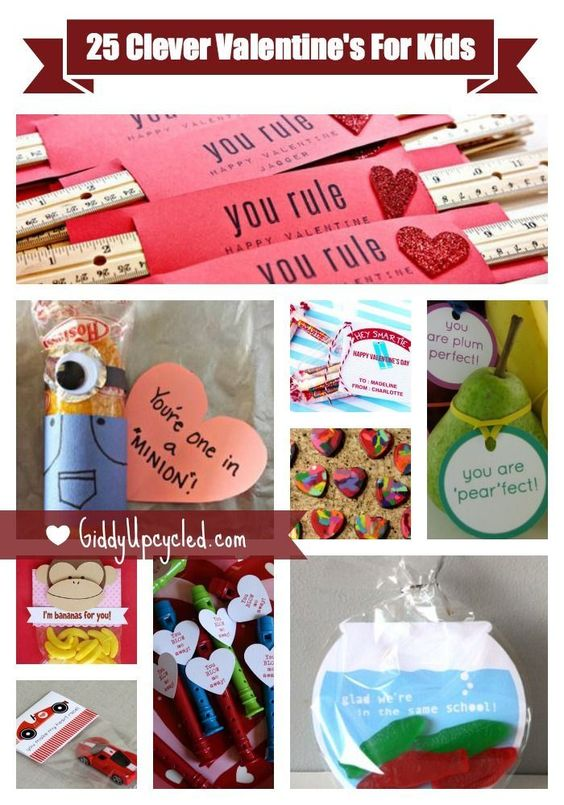 25 Clever Valentine's For Kids - Giddy Upcycled