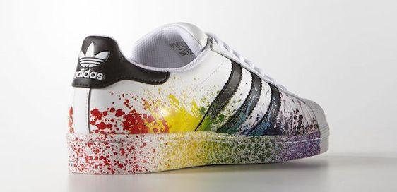 superstar blanche pride pack adidas arc en ciel couleur