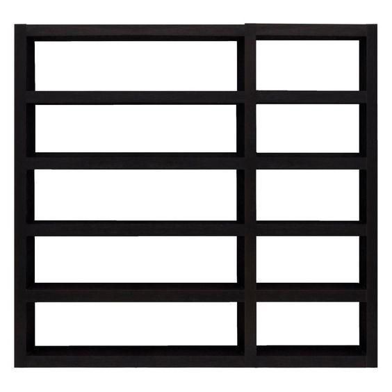 Tema Furniture Denso Composition Open Back Bookcase - 9500.511653, White