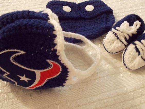 Houston Texans Newborn My New First Creeper - Light Blue