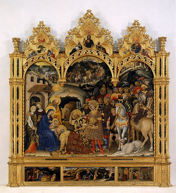 Gentile da Fabriano - Mary Enthroned with the Child, Saints and a Donor - Google Art Project - Gentile da Fabriano — Wikipédia