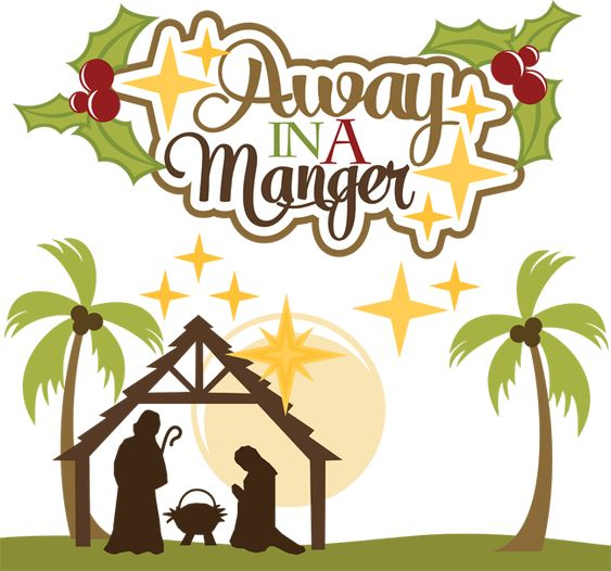 Image result for away in a manger clipart
