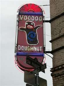 Voodoo Doughnut, Portland – where Ana, Christian and Taylor go to get doughnuts for Ray while he is in the hospital.