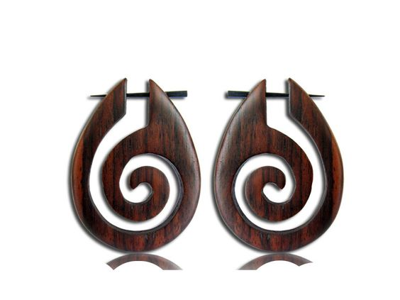 A personal favorite from my Etsy shop https://www.etsy.com/listing/245799191/wooden-earrings-pin-earrings-spiral