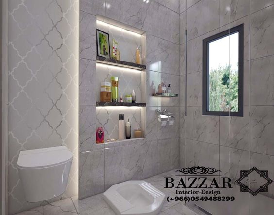 تصميم حمام مودرن تصميم حمام مودرن باللون البيج اضاءه حمامات ديكور حمام صغير Bathroom Bathr Bathroom Decor Apartment Bathroom Renovations Ceiling Design Modern
