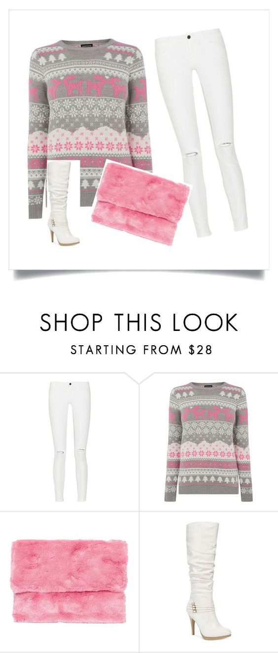 """pink"" by ash-luna ❤ liked on Polyvore featuring Frame Denim, Warehouse and Style & Co."