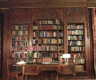 Edith Wharton's library at The Mount.
