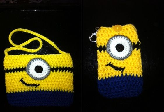 Minion crochet, Despicable minions and Bags on Pinterest