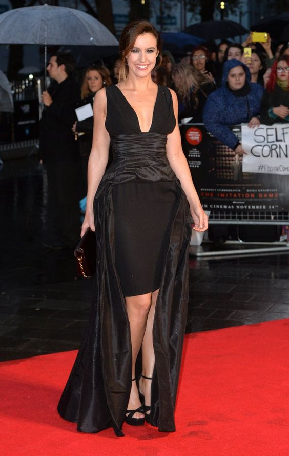 Pin for Later: That's a Wrap! See All the Stars Who Ditched Hollywood For the London Film Festival Charlie Webster Charlie donned a dramatic black gown at the gala screening of The Imitation Game.