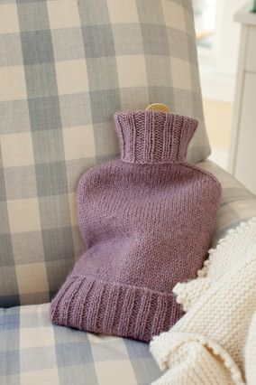 Knitting Pattern For Hot Water Bottle Cozy : Hot water bottles, Water bottles and Bottle on Pinterest