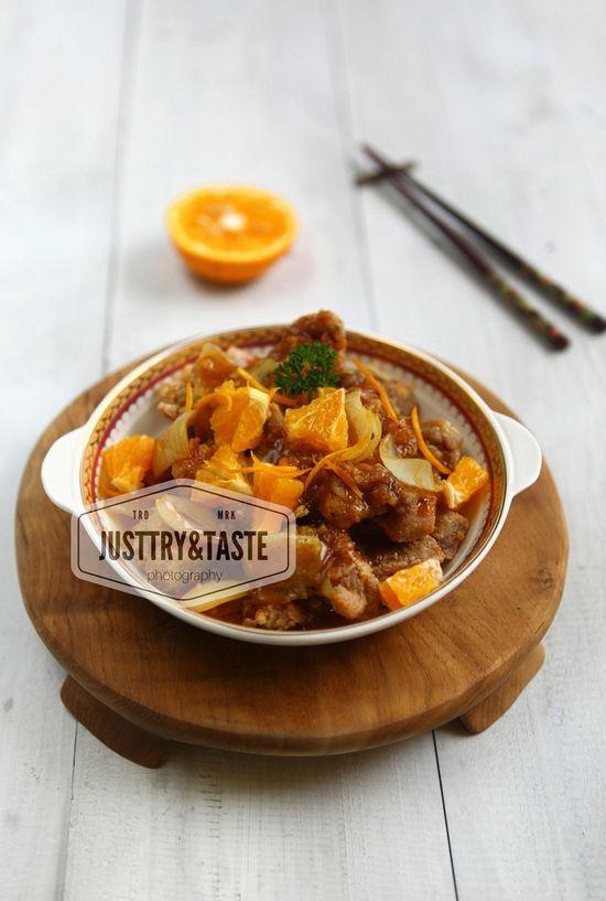 Ayam Saus Jeruk Orange Chicken Ayam Jeruk Resep Makanan Enak