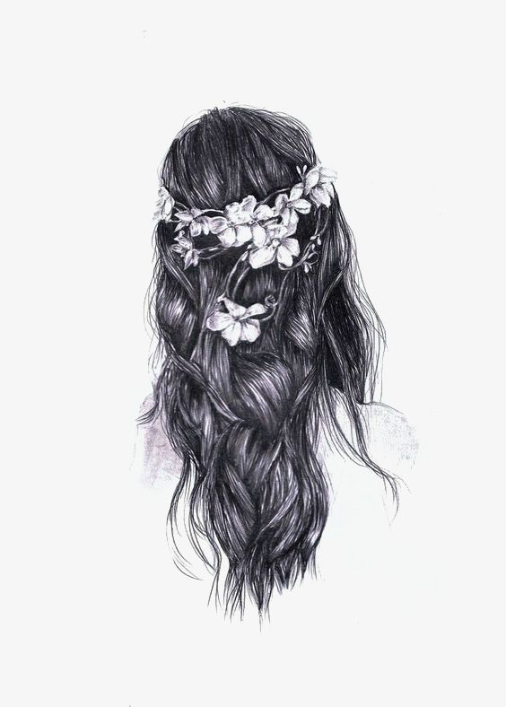 Literary Girl Back Png Image How To Draw Hair Crown Art Art