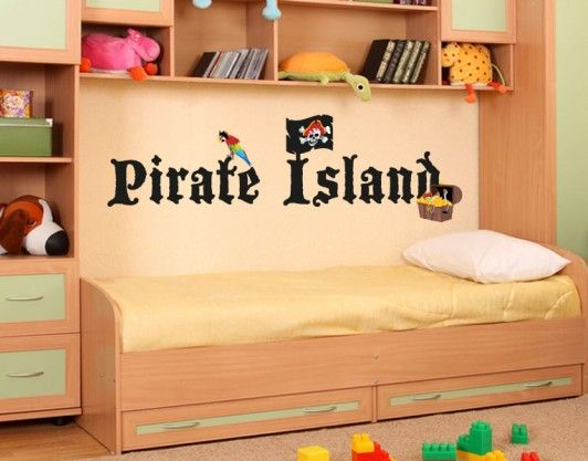 Pirate Island - BOYS - CHILDREN -Love this Bed/Cabinet set up! Great for small room!