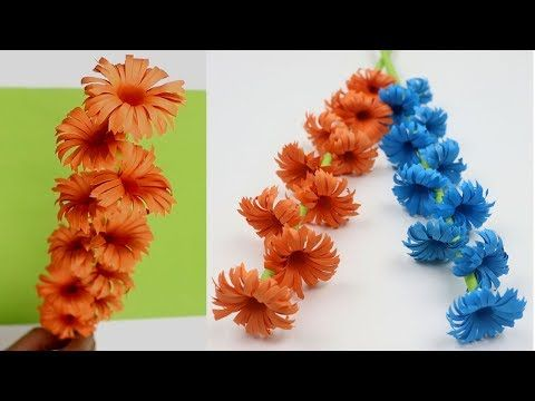 How To Make Very Easy And Simple Paper Flower Stick Diy Paper