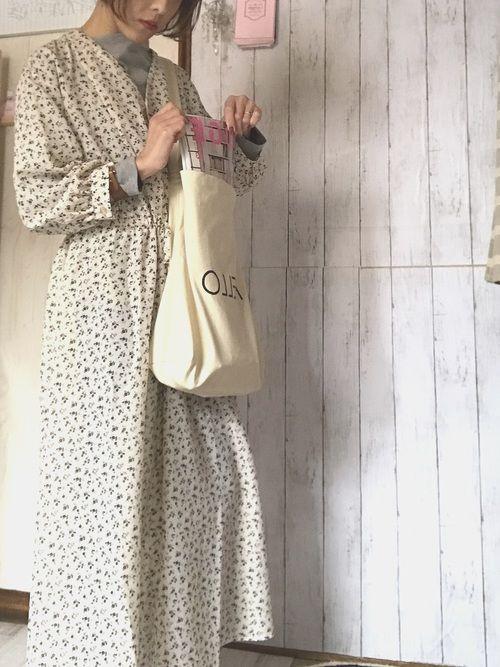 a m e guのワンピースを使ったコーディネート wear ワンピース 花柄ワンピース ファッション