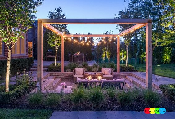 Gardens conversation pit and beauty on pinterest for Outdoor sitting area ideas