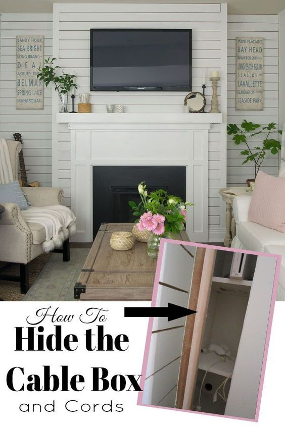 How To Hide The Cable Box Hide Tv Cords Cable Box Hide Cable Box