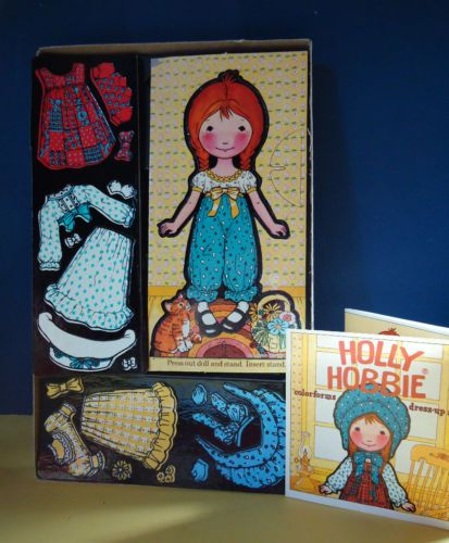 HOLLY HOBBY COLORFORMS PAPER DOLL SET