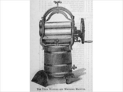 First Washing Machine   Hamilton Smith  1858  This machine influenced the world by not having to wash clothes one by one and spending more time washing clothes.