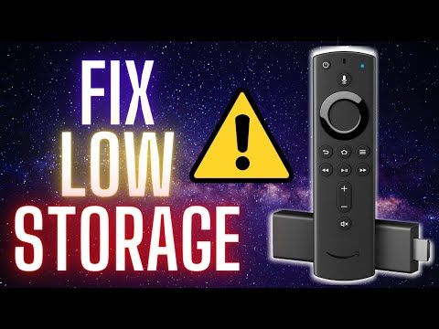 Fix Firestick Low Storage In 10 Minutes Youtube Storage 10 Minute 10 Things
