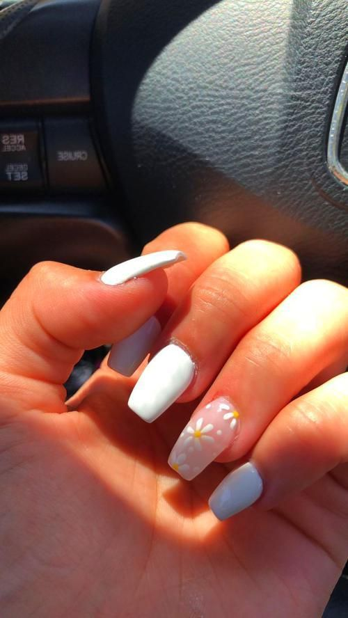 Cool Nails Love This So Cute For Summer Spring Nails