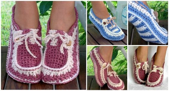 Crochet-Adult-Button-Loafers #diycraft #crochet