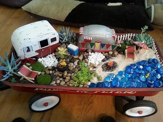Glamping Nation Glamping Fairy Garden With Donna Landscaping Ideas Pinterest Gardens And