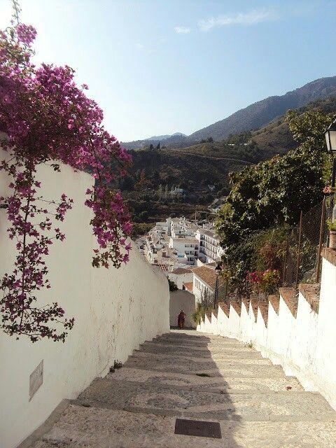 Long way down at Frigiliana, Malaga (Andalusia, Spain)