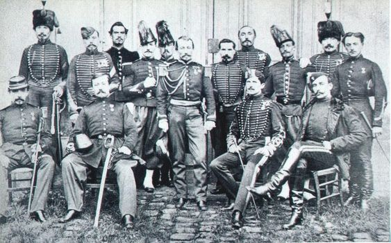 The French military mission which was sent to Japan by the Emperor Napoleon III to train the shogun's soldiers in the advanced arts of war. Some of them remained in Japan to fight in the Battle of Miyako Bay and the Battle of Hakodate even after the fall of the shogunate. and the Battle of Hakodate.