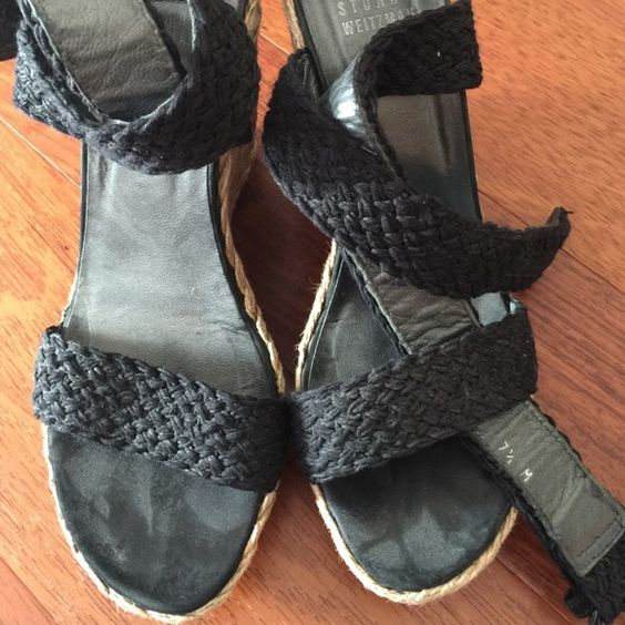 Stuart weitzman black strappy wedges Strappy black wedges from Stuart weitzman Stuart Weitzman Shoes Wedges