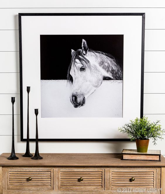 Enhance the farmhouse feel in your space with dramatic posters and prints.