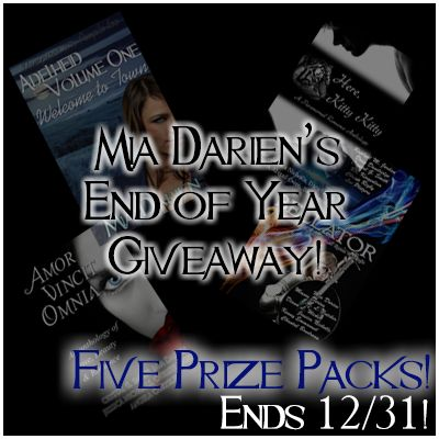 Giveaway: Author Mia Darien's End of Year Giveaway — Foofy * Not Foofy