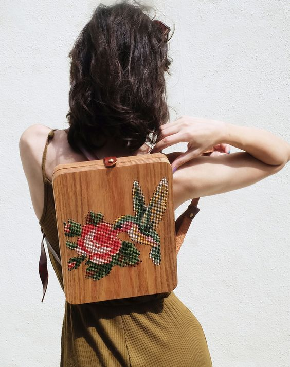 Wearable Wooden Bags by Grav Grav