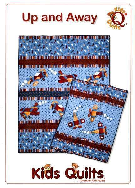 UP & AWAY QUILT PATTERN, Fusible Applique Airplane Quilt From Kids Quilts NEW #KidsQuilts