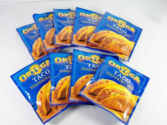#Ortega lot/set of nine (9) count ct. piece pc. net wt. 1.25 oz. size packets of original flavor #taco #seasoning mix in #powdered form for #Mexican #food #cooking and #cuisine with stamped/imprinted expiration/use by/best before date of January 2017, brand new and unused in original manufacturer's blue factory sealed retail protective packaging http://www.ebay.com/itm/NEW-BRACHS-LOT-OF-7-WILD-FRUITY-GUMMI-WORMS-SUGAR-FREE-BUTTERSCOTCH-HARD-CANDY-/141675512255?ssPageName=STRK:MESE:IT