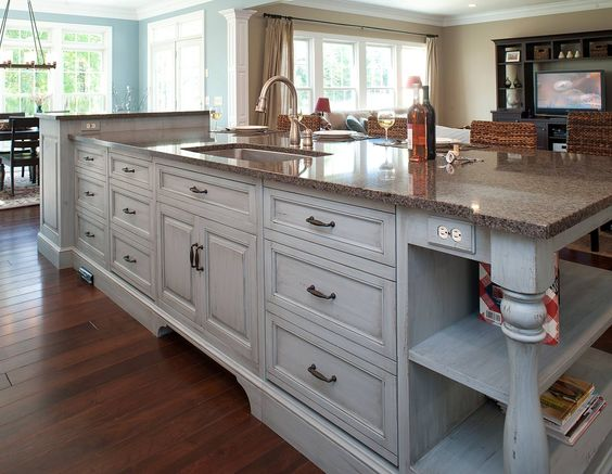 Mullet Cabinet - This spacious and inviting open concept Kitchen serves a family of seven.