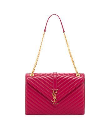 yves saint laurent chyc large patent flap shoulder bag