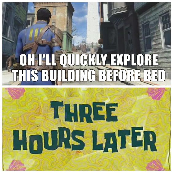 """I'm learning fallout4 doesn't do anything """"quick"""""""