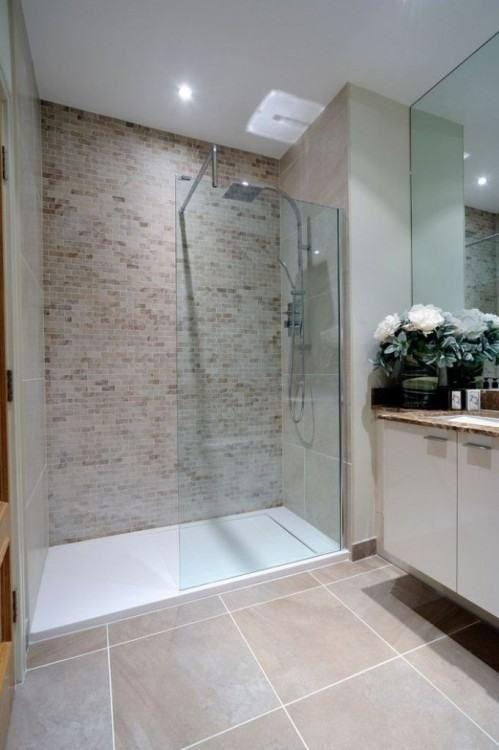 Bathroom Ideas With Brown Floor Tiles Idee Salle De Bain